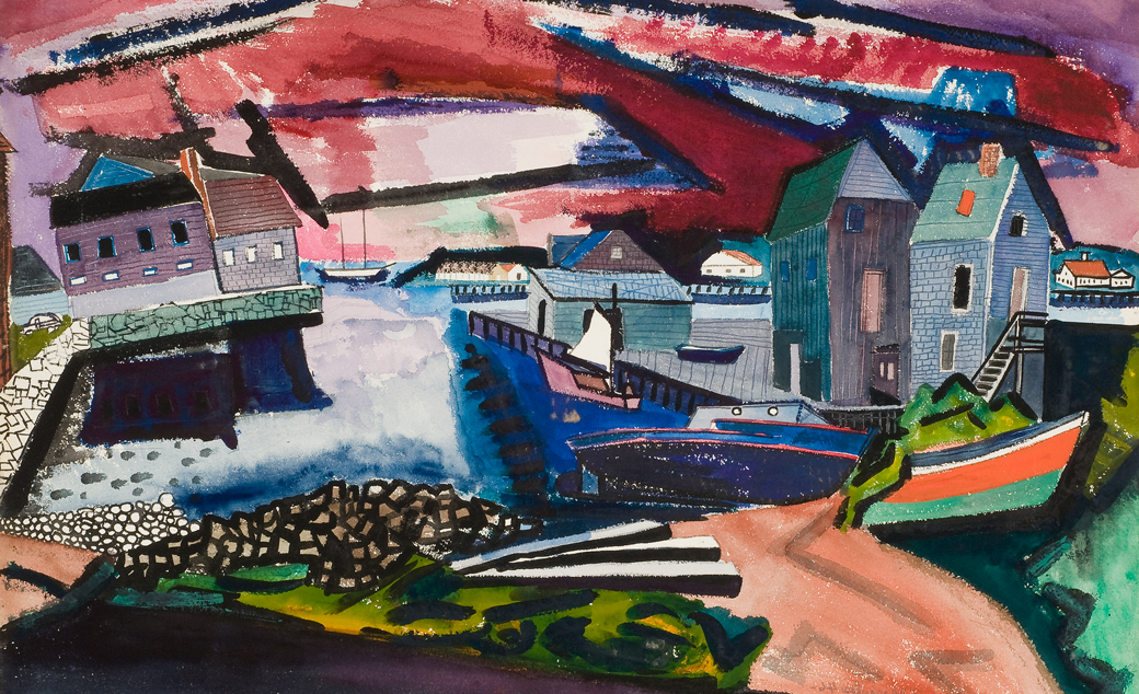 De Hirsch Margules (American, born Romania, 1899 - 1965) Color Moods DATE1946 MEDIUMWatercolor on paper DIMENSIONSImage: 20 5/8 × 30 in. (52.4 × 76.2 cm) CREDIT LINEGeorgia Museum of Art, University of Georgia; Eva Underhill Holbrook Memorial 采集 of American 艺术, University purchase OBJECT NUMBER1948.202